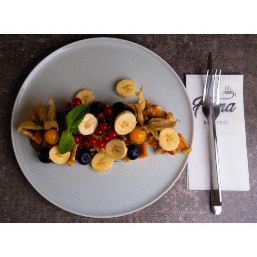 Gofri nutellával és banánnal